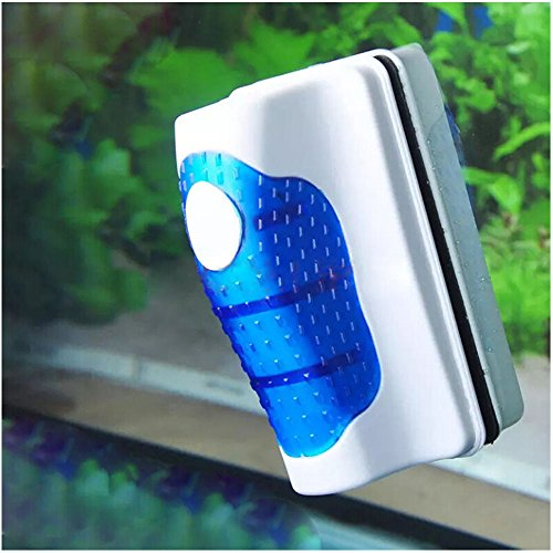 Bestgle Magnetic Aquarium Glass Scrubber Cleaner, Fish Tank Aquatic Algae Cleaning Tool Magnet Floating Design for Tank Under 60 Gallon