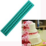 JoyGlobal Silicone String Pearl Fondant Sugar Paste Bead Mould Clay Mould Decorating, Multicolor