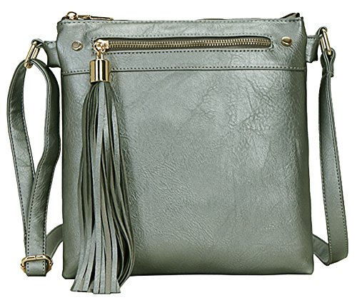Big Bandoulière Femme Pour Handbag Graphite ShopSac Avec Pompon À 6yvYgIbf7