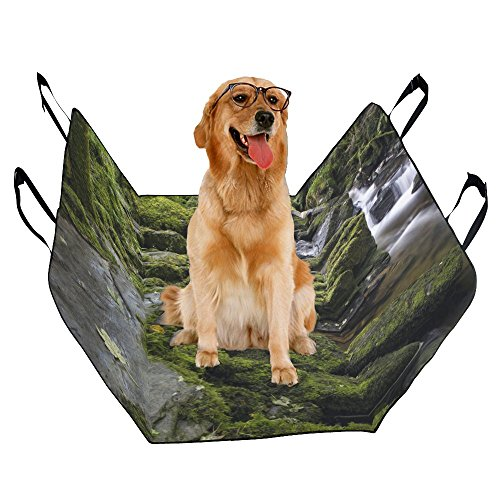 ize Waterproof Oxford Pet Car Seat Dog Hammock 55.19x43.31 Inch Forest And Creek PBS-211 (Creek Oxford)