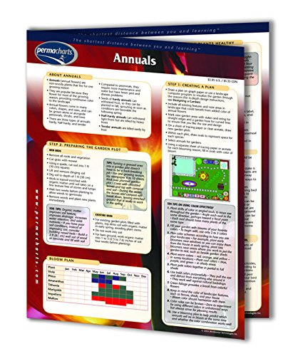 Annuals - Flowers - Home and Garden Quick Reference Guide by Permacharts (Planting Chart compare prices)