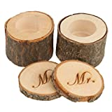 1 Set of 2pcs Decorative Mr & Mrs Vintage Shabby Chic Rustic Wedding Ring Pillow