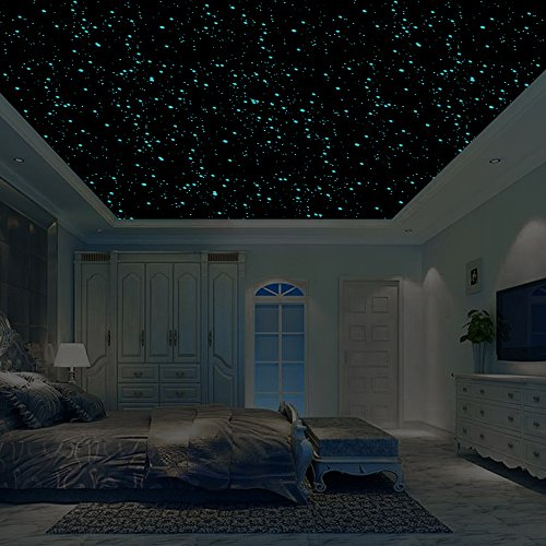 (Realistic 3D Domed Glow in The Dark Stars,606 Dots for Starry Sky, Perfect for Kids Bedding Room Gift(606 Stars))