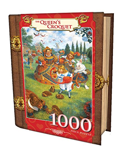 MasterPieces The Queens Croquet - Alice in Wonderland 1000 Piece Book Box Jigsaw Puzzle
