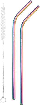 Jg.2 Canudo Color.Aco Inox + Escova Tramontina