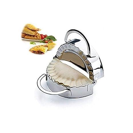 Nuevo acero inoxidable molde para raviolis (envoltorio dumpling Maker Mold pierogie pie crimpadora Pastry masa