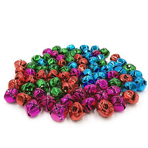 Hot Bear Colorful Jingle Bells 1-Inch/ 25mm, 60-Pack (Color)