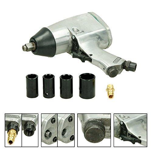 ECD Germany Set de Pistola neum/ática para Cambio de Ruedas LLave de Impacto Inflador de Neum/áticos