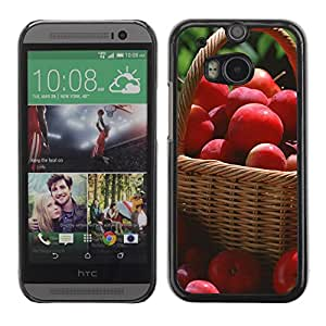 LECELL -- Funda protectora / Cubierta / Piel For HTC One M8 -- Fruit Macro Red Apples --