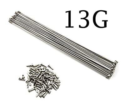 10PCS/Lot 13G 2.2mm J Bend Sliver Stainless Steel Bike Bicycle Spoke Spokes With Nipples