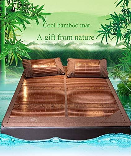 Tapis de lit en Bambou d'été, carbonisés, Tapis de Couchage pliants à Double Face Literie-B-Flower