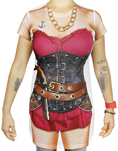 Cool Steampunk Costumes (Pirate Shirt For Women - Pirate Costume T-Shirt - Size Small)