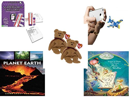 Children's Fun & Educational Gift Bundle - Ages 6-12 [5 Piece] - Includes: Game - Toy - Plush - Hardcover Book - Paperback Book - No. ()