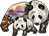 SunsOut - Dennis Rogers - Panda Playground - Shaped Jigsaw Puzzle - 1000 Pc
