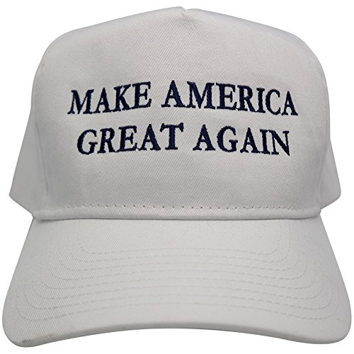 Donald Trump Cap, Make America Great Again Hat - Quality Embroidered Ball Caps (One Size, White)