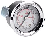 NOSHOK 100 Series Steel Dual Scale Dial Indicating Pressure Gauge with Panel Mount, 1-1/2