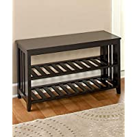 The Lakeside Collection Entryway Bench - Black