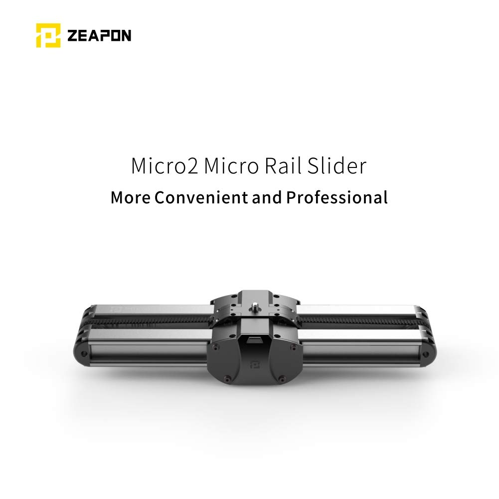 Fiil Zeapon Micro 2 Portable Camera Rail Slider, Travel Distance 54cm/21in, Easy Carry in Backpack, Consistency Speed, Self-Locking, Automatic Dust Scraper, Carry Bag Included, Max.Payload 8kg/18lbs by Zeapon