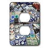 Danita Delimont - Markets - Asia, Vietnam. Ceramics for sale, Hoi An, Quang Nam Province - Light Switch Covers - 2 plug outlet cover (lsp_226060_6)