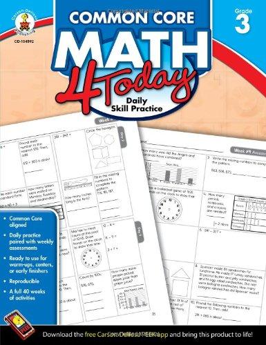Common Core Math 4 Today, Grade 3: Daily Skill Practice (Common Core 4 Today) cover