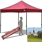 ABCCANOPY 30+colors Pop Up Canopy 10 X 10-feet Commercial Instant Canopy Kit Ez Pop up Tent,Bonus Carrying Bag,Burgundy For Sale