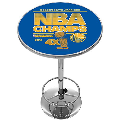 Trademark Gameroom 2015 NBA Champs Golden State Warriors Chrome Pub Table by Trademark Global