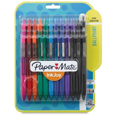 Paper Mate InkJoy 300RT Retractable Ballpoint Pen, Medium Point, Assorted Colors, 24-Count
