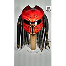 Pro Predator Motorcycle DOT Approved Helmet Red Style Foam Dread include Tri Laser SY21