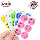 Mosquito Repellent Patches Stickers Natural Pure Essential Oil New Citronella Smiley for Kids Adults Keeps Insects Bugs Far Away for Home Camping Travel and Outdoors,20 Pack/120pcs (120pcs)