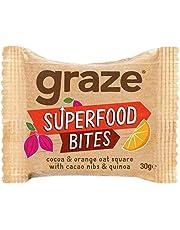 6X Graze Cocoa & Orange Flapjack with Quinoa & Super Cacao Nibs 30g