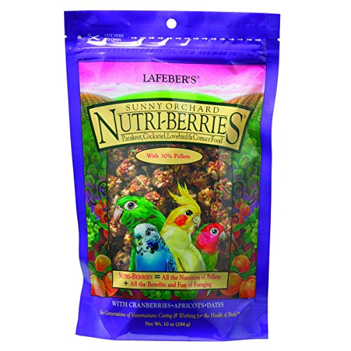 Lafeber Company Parakeet Pellets (Lafeber's Gourmet Sunny Orchard Nutri-Berries for Cockatiels 10-Ounce Bag)