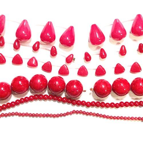 Mountain Jade Beads (Imagine If…8x12mm Red Teardrop Mountain Jade, Buy 1 Get 1 Free Beads)
