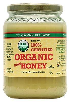 YS Organic Bee Farms CERTIFIED ORGANIC RAW HONEY 100% CERTIFIED ORGANIC HONEY Raw, Unprocessed, Unpasteurized - Kosher 32oz