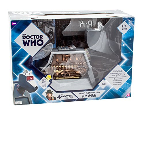 """51sSo4BUnGL - Underground Toys Doctor Who RC Remote Controlled K-9 Mark II Robot Dog 11"""" Tall Action Figure"""