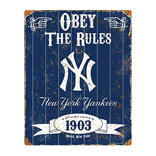 Party Animal MLB Embossed Metal Vintage Pub Signs,New York Yankees