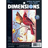 Dimensions No Count Cross Stitch, Cardinal Pair