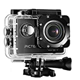 2016[Upgraded Version] Waterproof Underwater Camera, Pictek 12MP Full HD 1080p Camcorders Outdoors Sport WiFi Action Camera with 170 Degree Wide-angle Lens and 2-inch HD LCD Display for Diving,Motor-cycling,SwimmingSkiing,Car Racing,Paragliding,Bungee Jump,Surfing,Mountain-biking,etc.