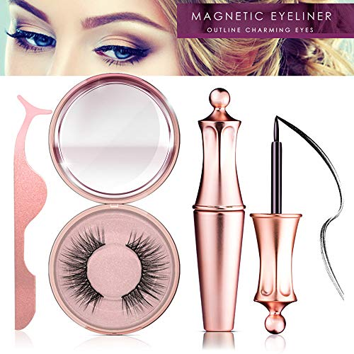 Magnetic Eyeliner Kit, Magnetic Eyeliner With Magnetic Eyelashes, Magnetic Lashliner For Use with Magnetic False Lashes (PI) ()