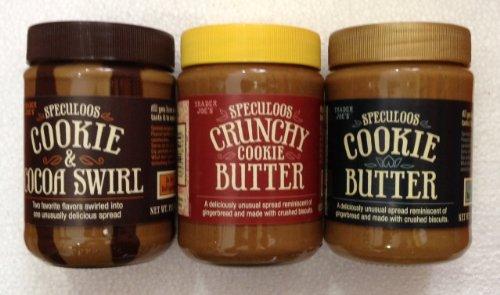 Trader Joe's Trio - Speculoos Cookie Butter, Speculoos Crunchy Cookie Butter, Speculoos Cookie & Cocoa Swirl (3 ()
