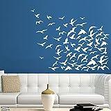 Bird Wall Decal Vinyl Stickers Decals Art Home Decor Mural Vinyl Wall Decal Flock Of Flying Birds Seagulls Nursery Decor Bedroom Dorm ZX117