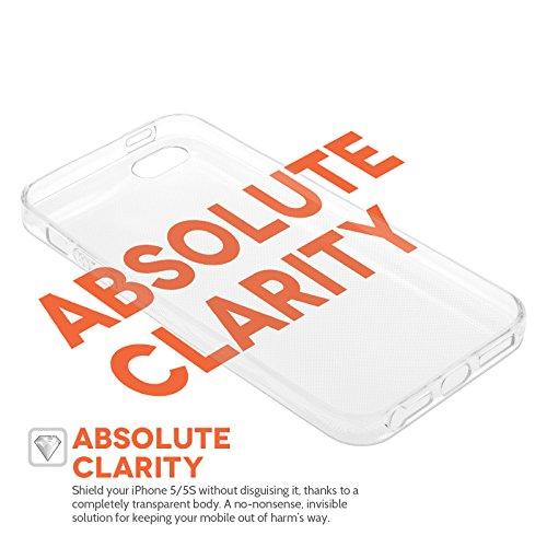 Yousave Accessories iPhone 5S Hülle Klare Ultradünne Silikon Gel Schutzhülle Mit Mini Griffel Stift