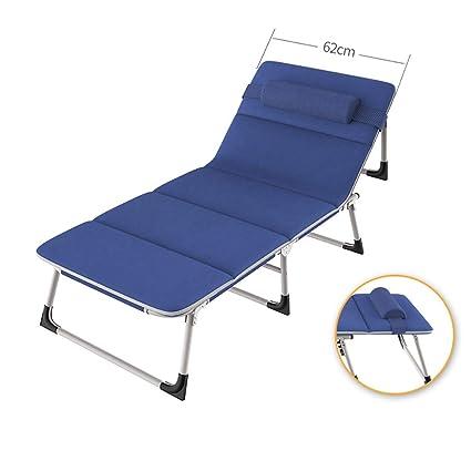 Sillas plegables de tela Chaise longue plegable con cojines ...