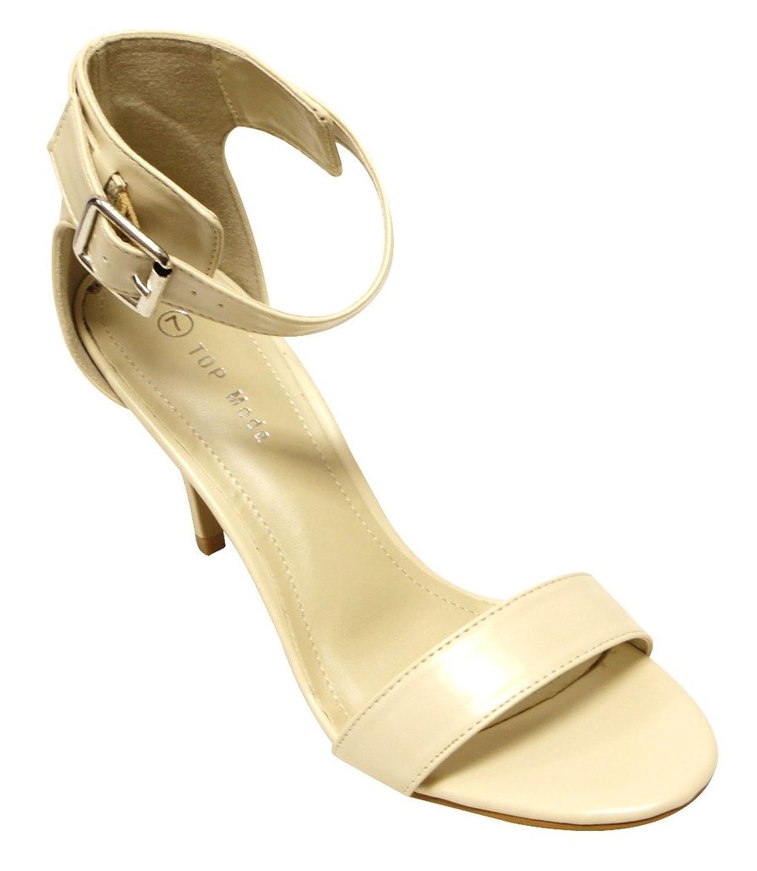 lovely Top Moda Hard 1 Women's open toe buckled ankle strap