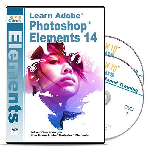 Photoshop Elements 14 Tutorial Software Over 15 Hours 233 Videos on 2 DVDs - Complete Training for Adobe Photoshop Elements by How To Gurus