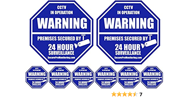 SECURITY CAMERA SYSTEM WARNING YARD SIGN+STICKERS **FAST SHIP!**