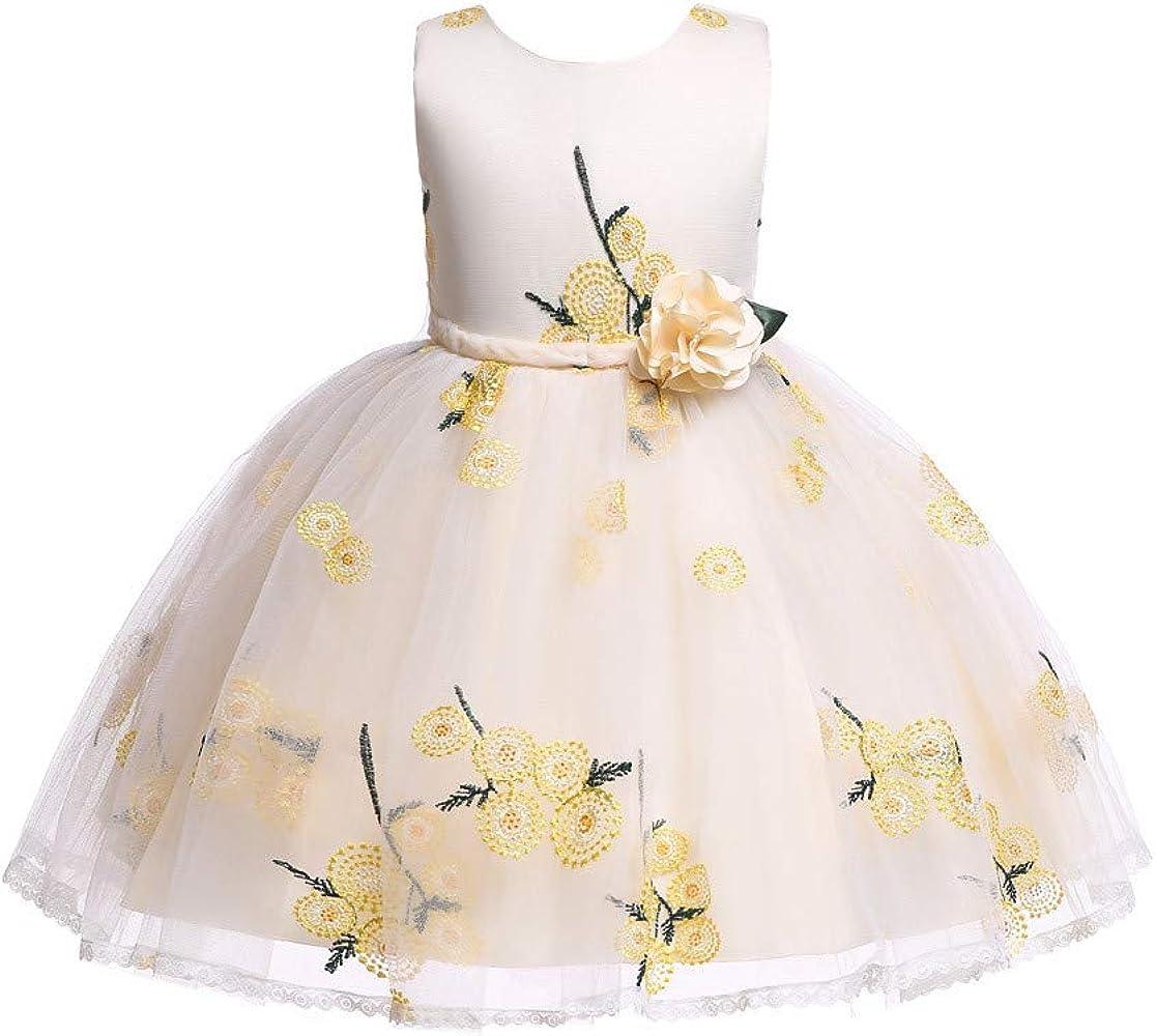K-Youth Vestido de Encaje de Flores Bordado Sin Mangas para ...