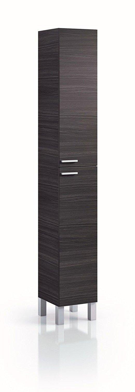 habitmobel - colonne 2 portes gris cendré - mesure 182 x 30 x 25 CM