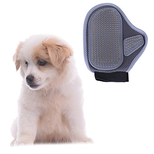 Molie Professional Pet Grooming Brushes Glove with Wire Pin, Hair Removal Brush for Dogs, Cat Brush Healthcare Grooming Bath Glove, New Styling Massage Comb for Pets from Molie