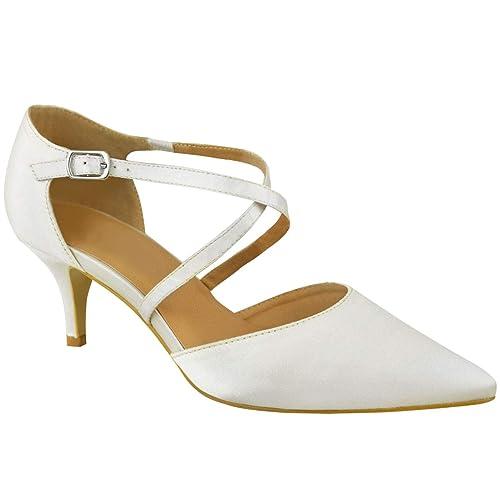Fashion Thirsty heelberry Mujer Bajo Tacón Bajo Fiesta Baile Tiras Zapatos  de Salón Boda Sandalias Números  Amazon.es  Zapatos y complementos 43ee69cd4308