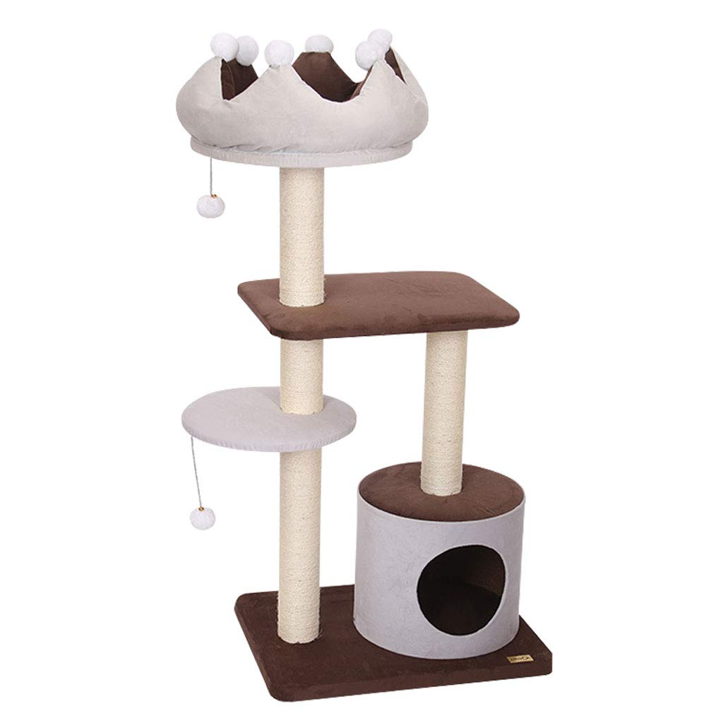 Cat Trees Cat Tree Tower, Plush Natural Sword cat Tree cat Climbing Frame wear-Resistant Scratch-Resistant Durable A2 Cat Houses